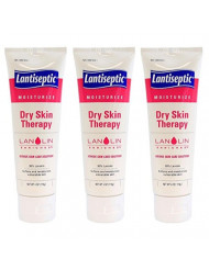Lantiseptic Dry Skin Therapy with Lanolin Fragrance Free 4 oz Tube - Pack of 3