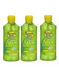 Banana Boat Aloe Aftersun Gel Soothes Dry Sunburned Skin: Size 16 Oz (Pack of 3)