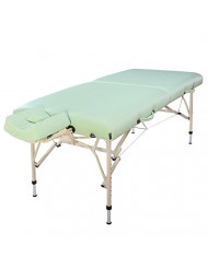 Master Massage30'' Bel Air Ultra Light Weight Aluminum Portable Massage Table Package,Lily Green