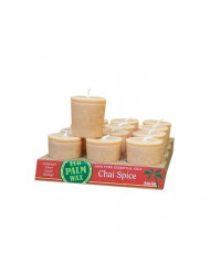 New - Aloha Bay Candle Votive Essential Oil Chai Spice - 12 Candles - Case of 12