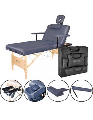 Master Massage Coronado Salon LX Portable Massage Table Package, Royal Blue, 31 Inch