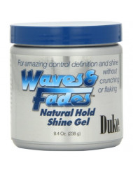 Duke Waves & Fades Natural Hold Shine Gel, 8.4 Oz