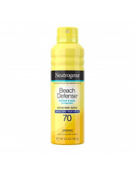 Neutrogena Beach Defense Body Spray Sunscreen with Broad Spectrum SPF 70, Water-Resistant and Oil-Free Sun Protection, 6.5 oz
