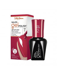 Sally Hansen Salon Pro Gel Nail Polish Lacquer, Red My Lips, 0.24 Fl. Oz.
