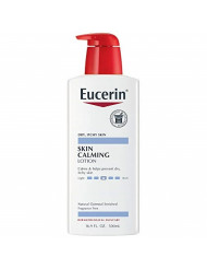 Eucerin Skin Calming Lotion - Full Body Lotion for Dry, Itchy Skin, Natural Oatmeal Enriched - 16.9 fl. oz Pump Bottle
