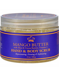 Nubian Heritage Hand and Body Scrub, Mango Butter, 12 Ounce
