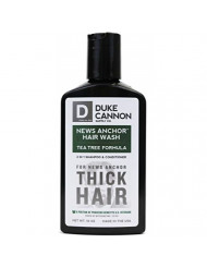 Duke Cannon News Anchor Hair Wash 2-in-1 Shampoo and Conditioner for Men - Tea Tree, 10 oz