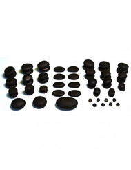 TIR Massage Stone - 59 Piece Massage Stones Set - Natural Basalt Massage Stones (not cut) - Variety of Shapes and Sizes