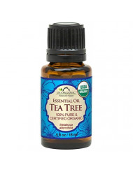 US Organic 100% Pure Tea Tree Essential Oil, USDA Certified Organic with Improved Caps and Droppers, 15 mL (More Size Variations Available)