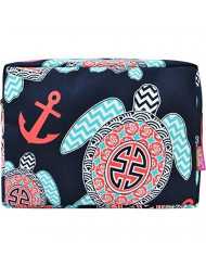 Sea Turtle Anchor (Navy) NGIL Large Cosmetic travel Pouch