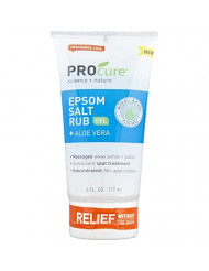 PROCURE Epsom Salt Rub Gel with Aloe Vera, 6 Fluid oz. (Pack of 3); Soothes Muscle Tension, Aches & Pains Directly Where It Hurts.