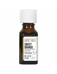 Aura Cacia 100% Pure Sweet Orange Essential Oil | GC/MS Tested for Purity | 15 ml (0.5 fl. oz.) | Citrus sinensis