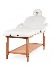 Stationary Adjustable Massage Table Bed Professional Tilt with Storage 3 Sections 500Lbs MaxLoad