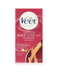 Veet Legs N Body Wax Hair Remover Strips 40Ct (Packaging may vary)