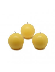 """Zest Candle CBC-201_8 96-Piece Citronella Ball Candle, 2"""", Yellow"""