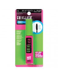 Maybelline New York Great Lash Waterproof Mascara, Brownish Black [112] 0.43 oz (Pack of 6)