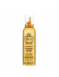 RICH Hair Care Pure Luxury Argan Volumizing Mousse for All Hair Types - Volumizing & Smoothing - Moisture Retention, Boosting Shine & Softness, 6.76 FL OZ