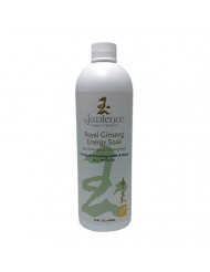 Royal Ginseng Energy Bath Soak by Jadience: All Natural Herbal Liquid Formula for Full Body or Foot Soaking | Increase Energy & Stamina | Relieve Stress, Fatigue and Muscle & Joint Pain - 16oz