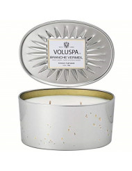 Voluspa Branche Vermeil 2 Wick Oval Tin Candle, 12 Ounces