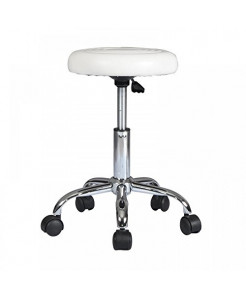 Rolling Stool with Wheels Stool Chair Swivel Stool Massage Stool Height Adjustable Office Stool Hydraulic Rolling Chair Medical Stool Diameter 12 Inches Spa Chair Salon Stool Seat PU Cushion