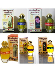 Set of 5 Anointing Oils with Biblical Spices Frankincense and Myrrh, Rose of Sharon, Spikenard, Myrrh, Lily of the Valleys (10ml)