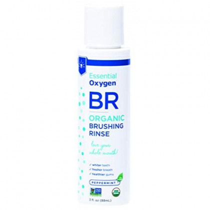 Via Nature Essential Oxygen Brushing Rinse, Organic Peppermint, 3 Ounce