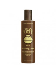 Sun Bum Natural Browning Lotion   Dark Tanning Lotion with Organic Coconut Oil, Kona Coffee Extract and Aloe Vera   Gluten Free and Vegan   8.5 FL Oz