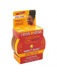 Creme Of Nature Argan Oil Perfect Edges Extra Hold 2.25 Ounce (66ml) (2 Pack)