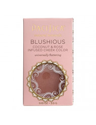 Pacifica Beauty Blushious Coconut & Rose Infused Cheek Color, Wild Rose, 0.10 Ounce