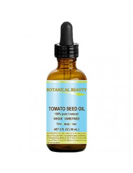 TOMATO SEED OIL. 100% Pure/Natural/Virgin/Undiluted/Cold Pressed for Skin, Hair and Lip Care. 2 oz - 60 ml.