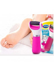 Scholl Velvet Smooth Electric Foot File, Pink with Diamond Crystals by Scholl