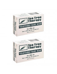 Tea Tree Therapy, Soap Bar, Vegetable Base, 3.5 oz (2-Pack)