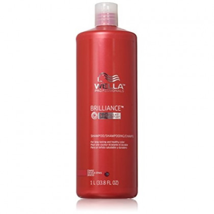 Wella Brilliance Shampoo for Long Lasting and Healthy Color, 33.8 Ounce