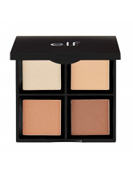 e.l.f.   CosmeticsContour Palette, 4 Powder Shades Bronzer & Shader, LightorMedium, 0.56 Ounce