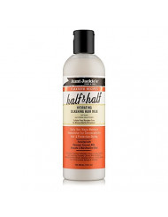 Aunt Jackie's Flaxseed Recipes Half & Half, Hydrating Silkening Hair Milk, For Daily Use, Enriched with Flaxseed, Coconet, Jojoba Oil, Shea Butter, Grapeseed and Ginseng, 12 Ounce Spray Bottle