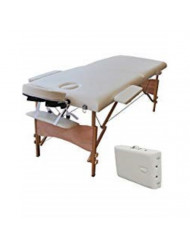 "Massage Tables White 84"" L Portable Facial SPA Bed Tattoo w/Free Carry Case"