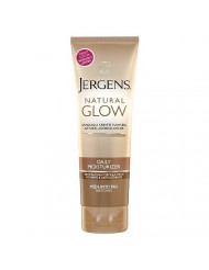Jergens Natural Glow Revitalizing Daily Moisturizer, Medium/Tan Skin Tone 7.5 fl oz (221 ml) package of 2