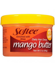 Softee Mango Shea Butter Daily Hair Dress, 3 Ounce Jar (1)