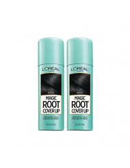 L'Oreal Paris Hair Color Root Cover Up Hair Dye Black 2 Ounce (Pack of 2) (Packaging May Vary)