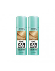 L'Oreal Paris Hair Color Root Cover Up Hair Dye Light to Medium Blonde 2 Ounce (Pack of 2) (Packaging May Vary)
