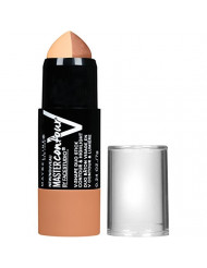 Maybelline New York Makeup Facestudio Master Contour V-Shape Duo Stick, Medium Shade Contour Stick, 0.24 oz