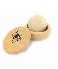 GBS Natural Beech Wood Shaving Soap Bowl Cup with Lid Cover & Driftwood Natural Shaving Soap. Ultimate Lathering Bowl. Use with Shave Brush & Shaving Razor for an Ultimate Wet Shave Experience