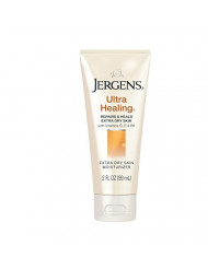Jergens Ultra Healing Dry Skin Moisturizer, 2 Ounce Travel Lotion, for Absorption into Extra Dry Skin, with HYDRALUCENCE blend, Vitamins C, E, and B5