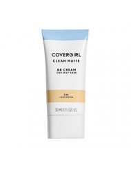 COVERGIRL Clean Matte BB Cream For Oily Skin, Light/Medium 530, (Packaging May Vary) Water-Based Oil-Free Matte Finish BB Cream, 1 Fl Oz (1 Count)