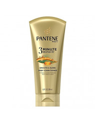 Pantene Conditioner Smooth & Sleek 3 Minute Miracle 6 Ounce Tube (180ml) (6 Pack)