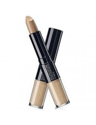 [the SAEM] Cover Perfection Ideal Concealer Duo - 3 Colors (#1 Clear Beige) - Dual Type Strong Coverage Concealer, High Adhesive, No Cluumping in Wrinkles, Sun Protection