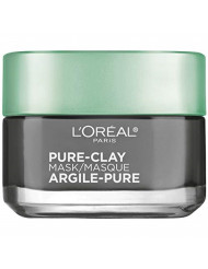 L'OrÃal Paris Skincare Pure-Clay Face Mask with Charcoal for Dull Skin to Detox & Brighten Skin, 1.7 Ounce (Pack of 1)