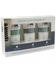 JATAI Trio Shaving Set - Simple 1, 2, 3 step system cleans, shaves, and moisturizes to promote younger healthier looking skin