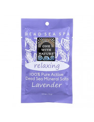 One Nature Bath Salts,Lavender,Rela 2.5 Oz (Pack of 6)