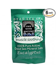 One Nature Bath Salts,Eucalypt,Soot 2.5 Oz (Pack of 6)
